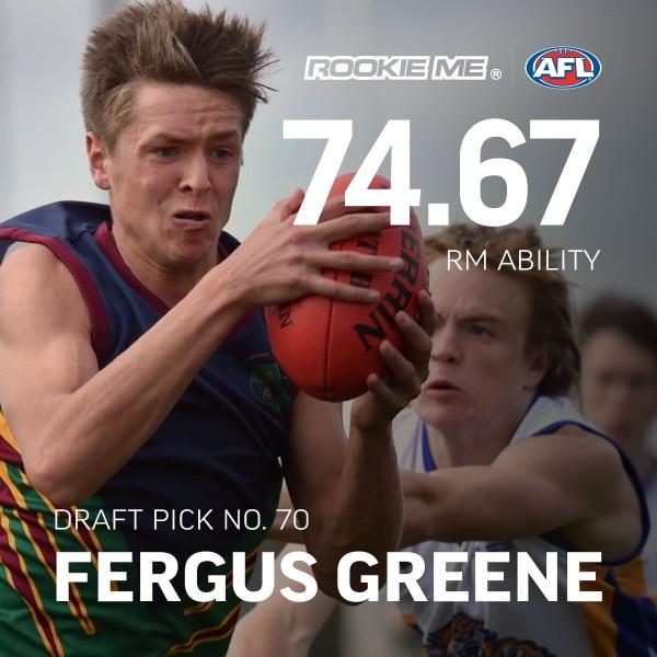 Draft Card Fergus Greene drafting results 2016 RM